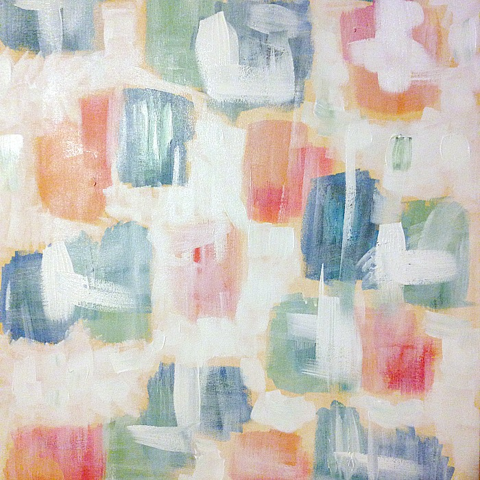 How to create whitewash abstract art - in process