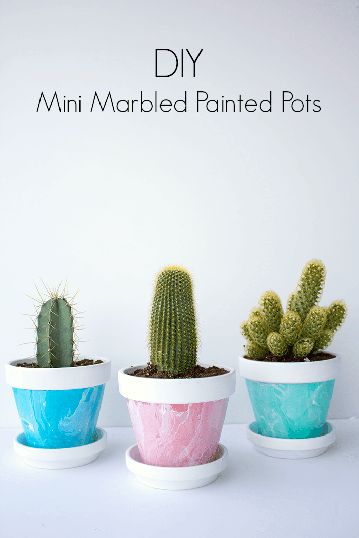 Add some lovely pops of smoky colour with these DIY mini marbled painted pots. A fun DIY project for your home.