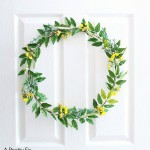 How to Make a Pretty (faux) Wildflower Wreath
