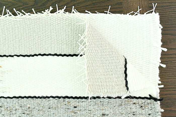 DIY Woven No-Sew Pillow - place weavings together.