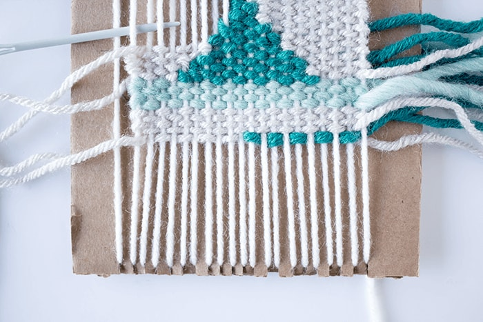 Woven Coaster Craft - Weaving Around Triangles