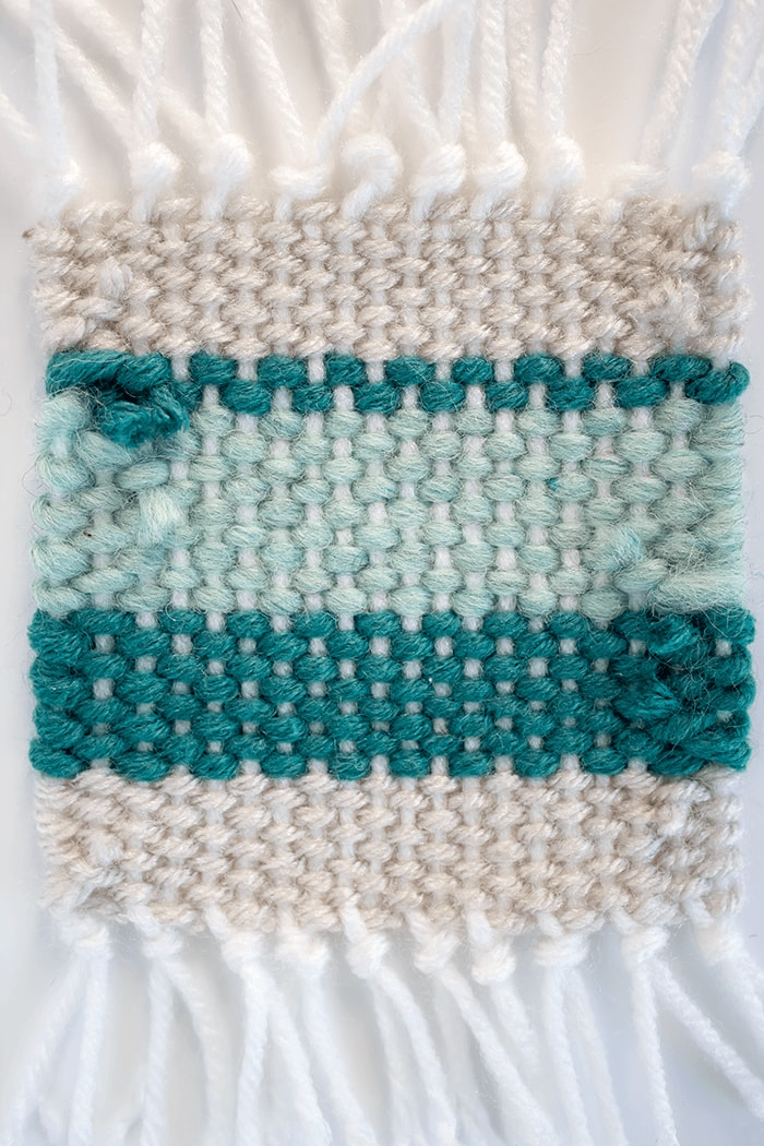 Woven Coaster Craft - Weave In Loose Strands