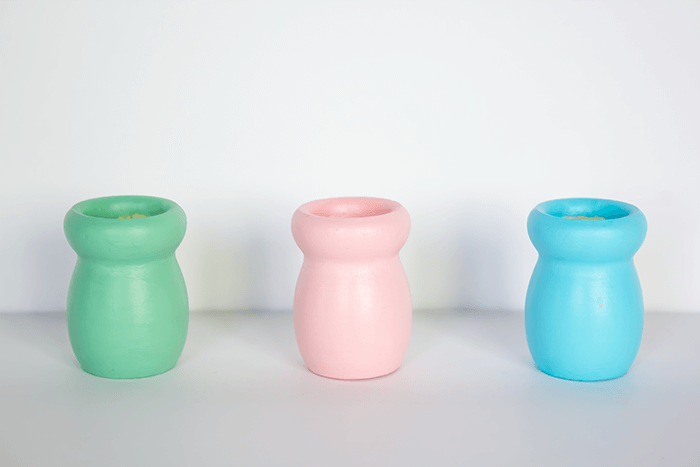 Shy Face Candle Holders - Apply Colours