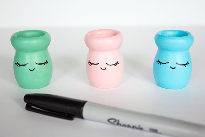 Shy Face Candle Holders - Trace Over Shy Face