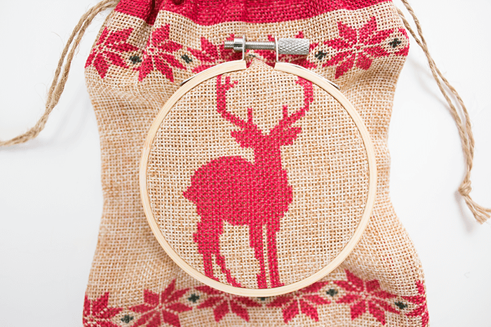 2016 Ornament Exchange - Statement Embroidery Hoop Ornament - twist screw back into outer hoop and tighten