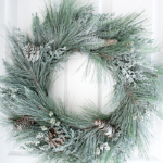 How To Snow Spray A Wreath (That Doesn't Require Flocking)