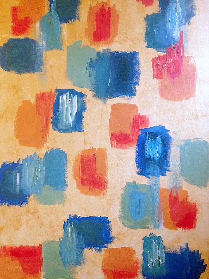 How to create whitewash abstract art - overlapping colours