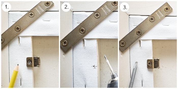 How To Frame Canvas Art - Attaching D-Rings.