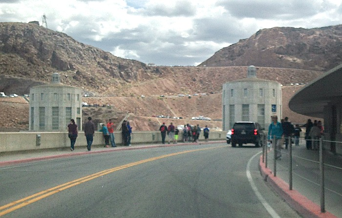 Driving over the Hoover Dam
