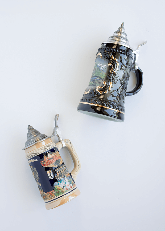 German Beer Steins // Embracing the Weird (and Wonderful) in Home Decor.
