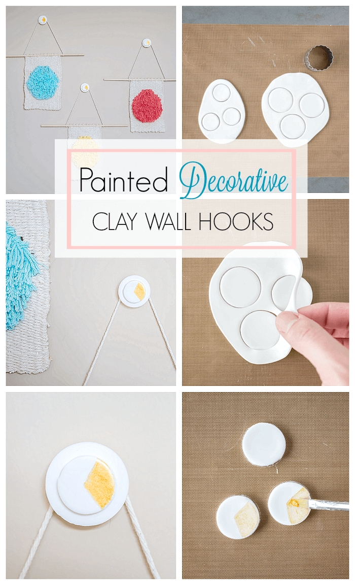 Create these super cute painted decorative wall hooks. Use them to hang treasured objects, including jewelry, photographs or your favourite weaving projects.