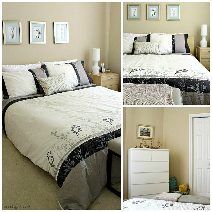 guest room photo collage