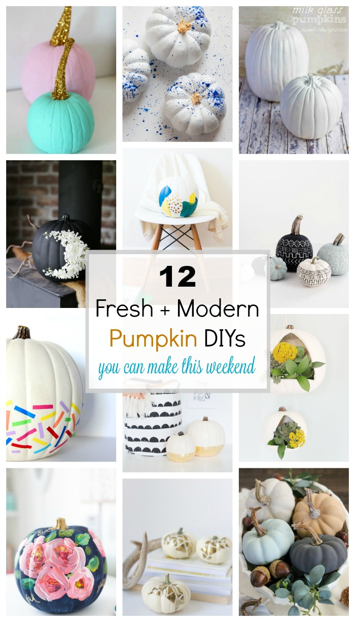 12 fresh and modern ways to decorate pumpkins for fall!