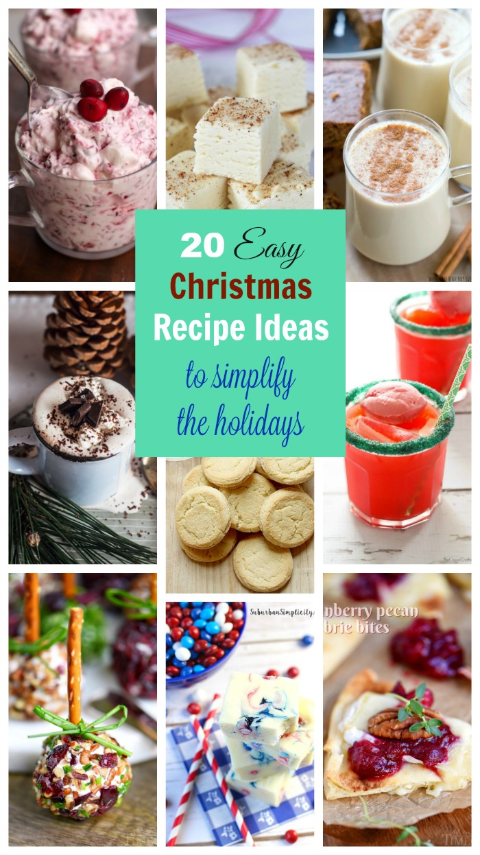 From easy appetizer ideas to 3-ingredient fudge, these quick and easy Christmas recipe ideas will help you simplify the holidays. Make hosting or 'guesting' a little bit easier with recipe ideas that are easy to replicate at home.