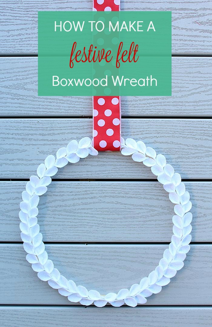 This do-it-yourself felt boxwood wreath makes a chic addition to your holiday decor - and one that will last!