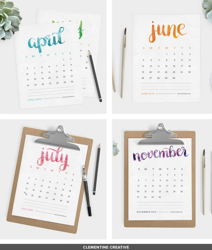 free-printable-2016-calendar-clementine collective2
