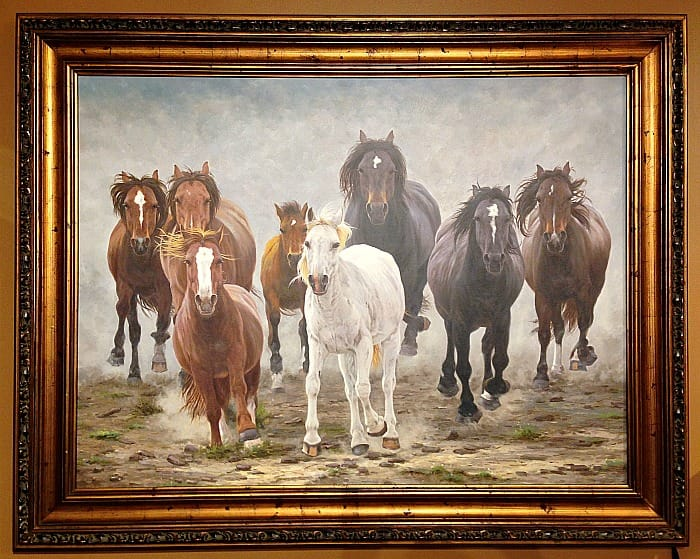 Chic by Jansen - framed horse painting