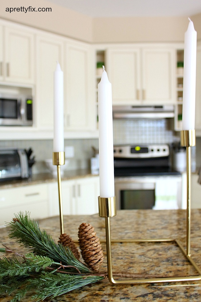 kitchen candles - Christmas 2015