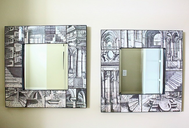 misaligned mirrors - side by side
