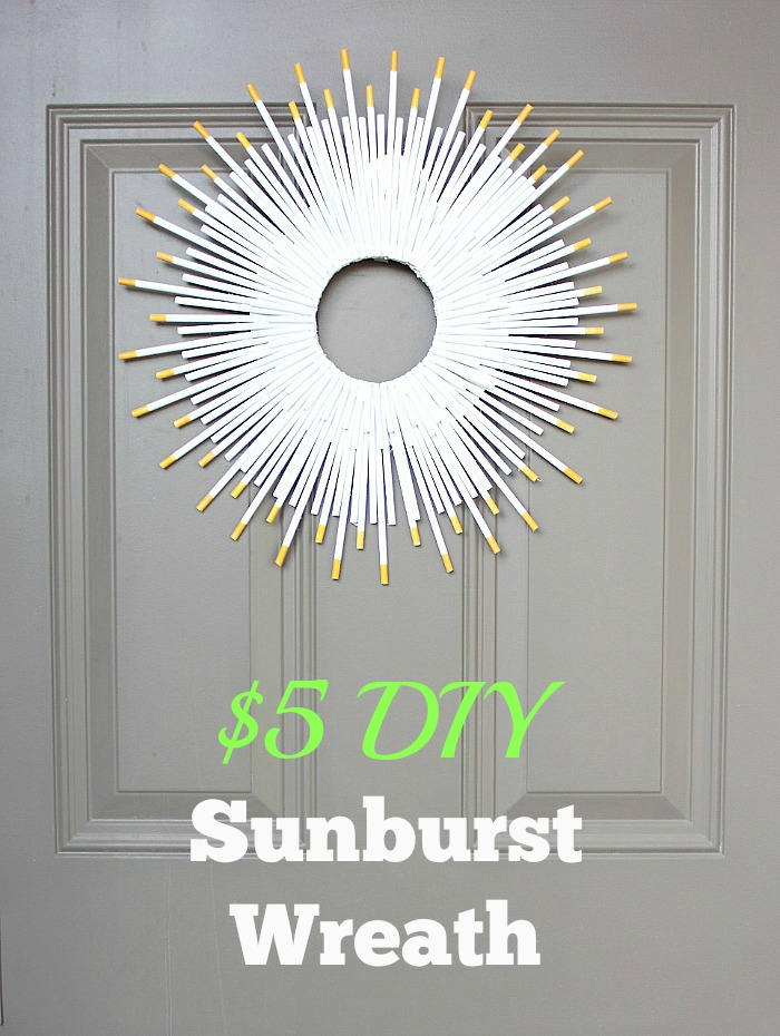 DIY sunburst wreath