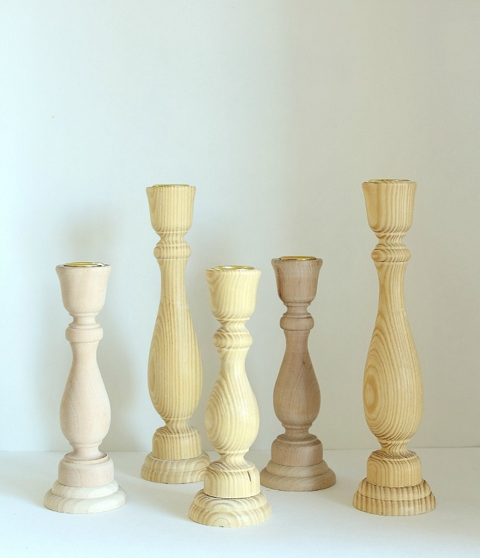 unfinished candlesticks
