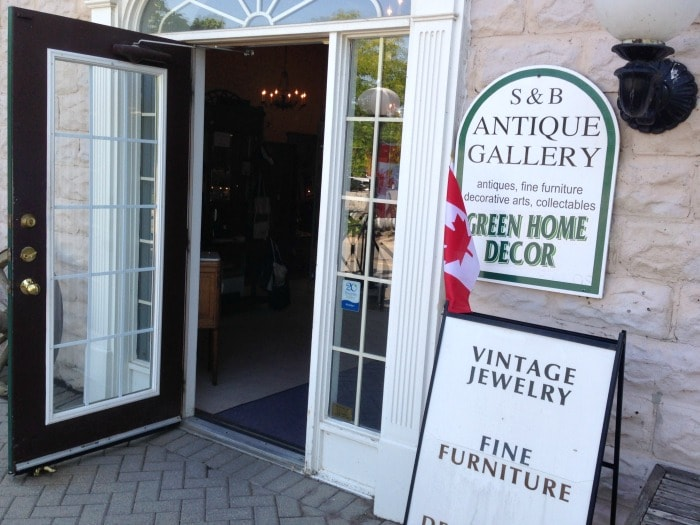 S & B Antique Gallery store front