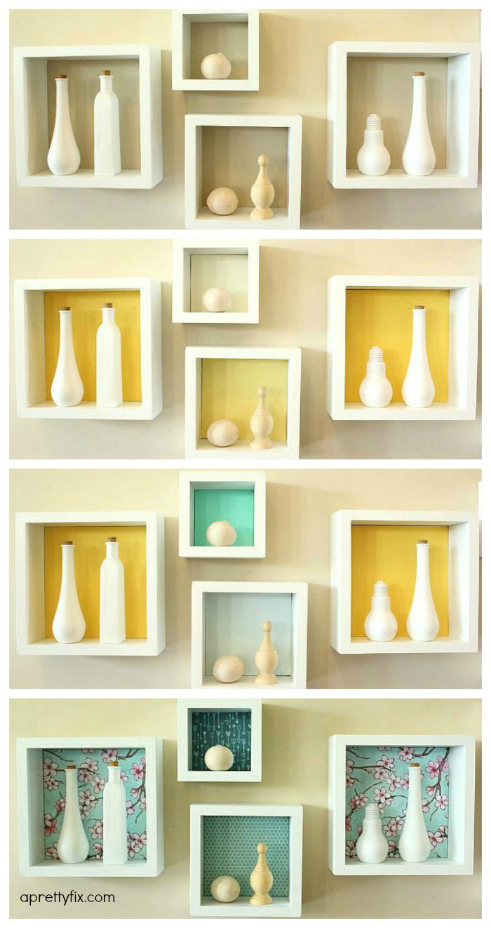 Diy cubby wall display a pretty fix for Display walls for art shows