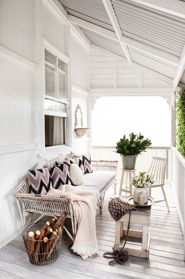 Black and White Outdoor Spaces.