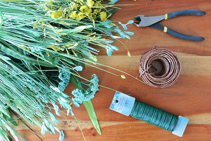 DIY (faux) Wildflower Wreath - Materials Needed
