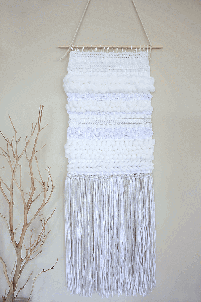 Learn to create beautiful texture to your weaving by following this step-by-step tutorial that utilizes 5 easy techniques. So simple and pretty!
