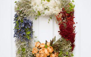 Pretty Vintage DIY Floral Wreath