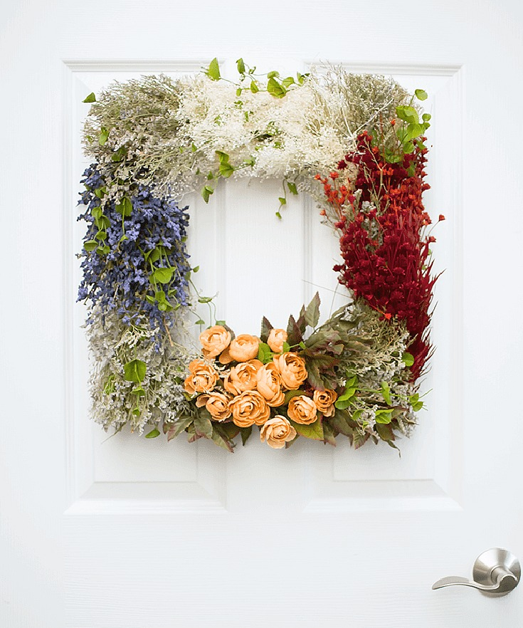 Pretty Vintage Floral Wreath DIY
