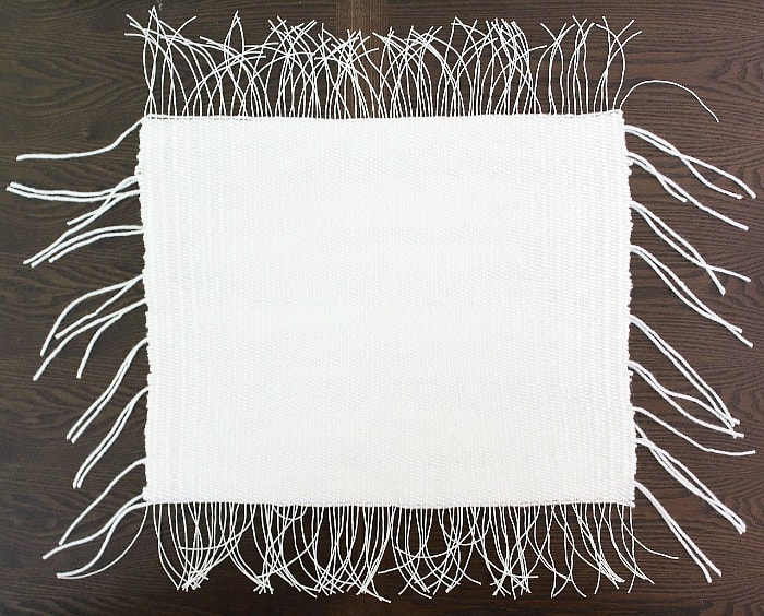 DIY Woven Pillow - back side.