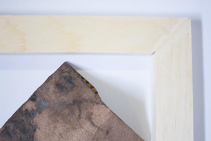 How To Frame Canvas Art - wood filler - let dry.