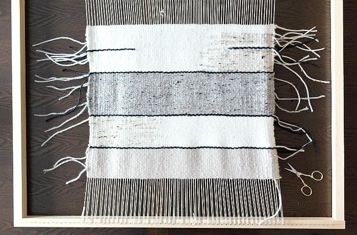 DIY Woven Pillow - in progress