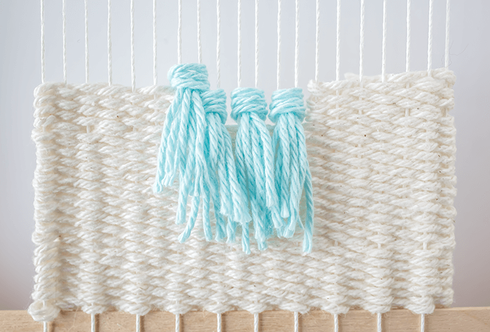 Stagger rya knots - 3 mini weavings.