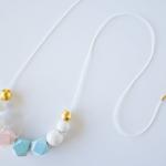 DIY Bead Necklace Using Nail Polish