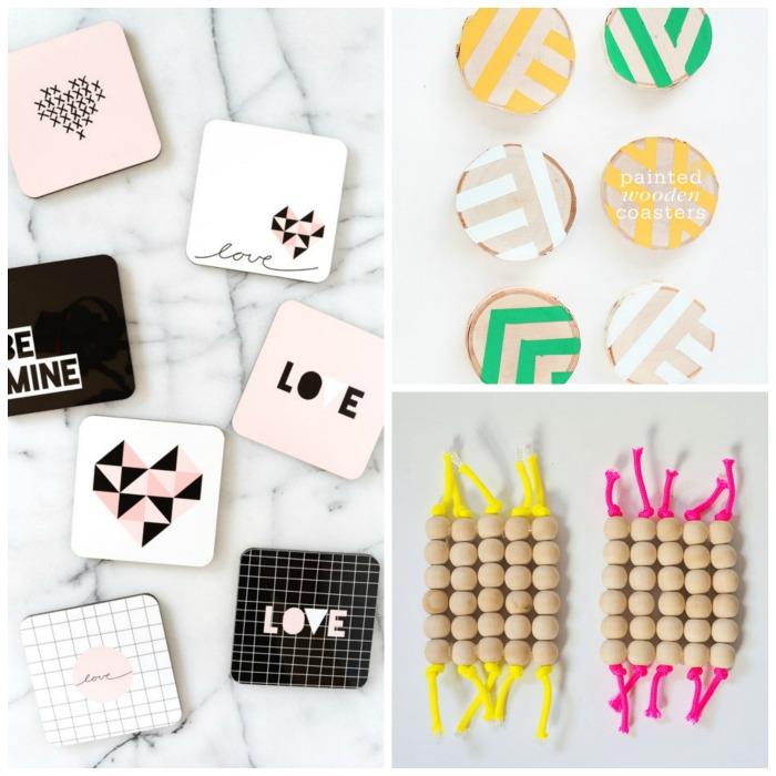 crafty ideas modern coasters.  Friday Faves 15 Modern Coaster Crafts A Pretty Fix
