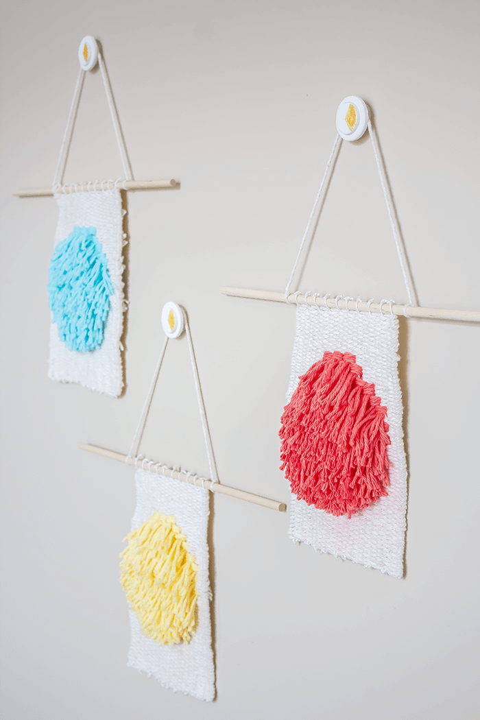 Painted Decorative Wall Hooks - angled view.
