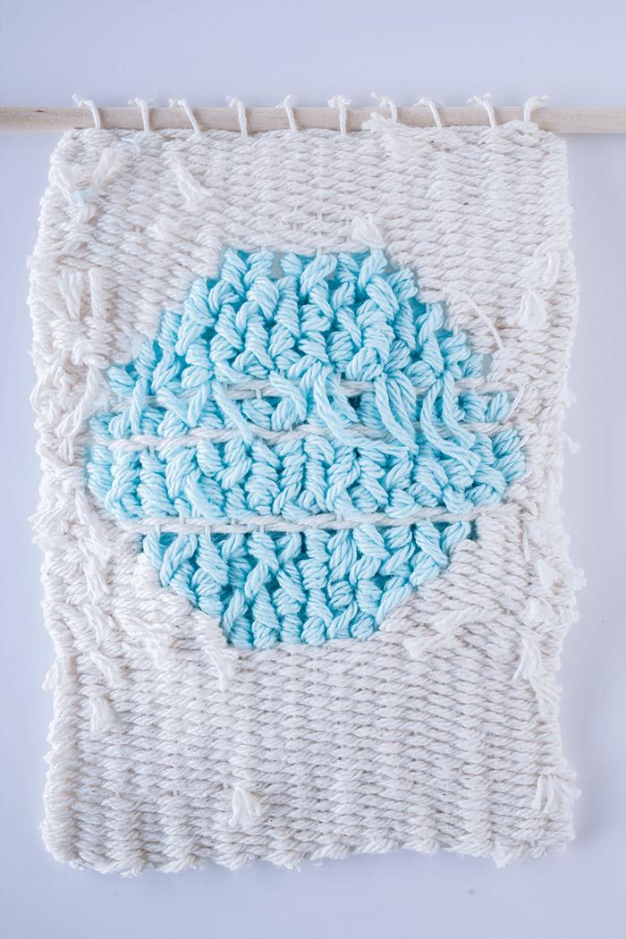 Back side - 3 mini weavings.