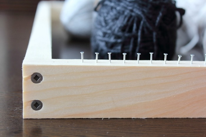 Nail loom - up close