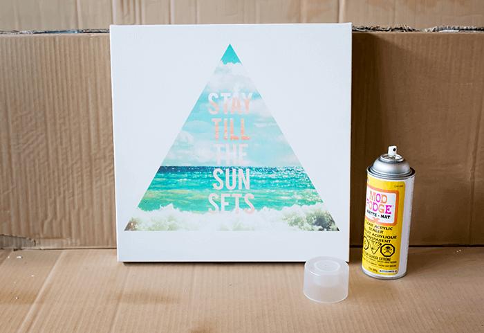 Weather proof art - spray Mode Podge sealer