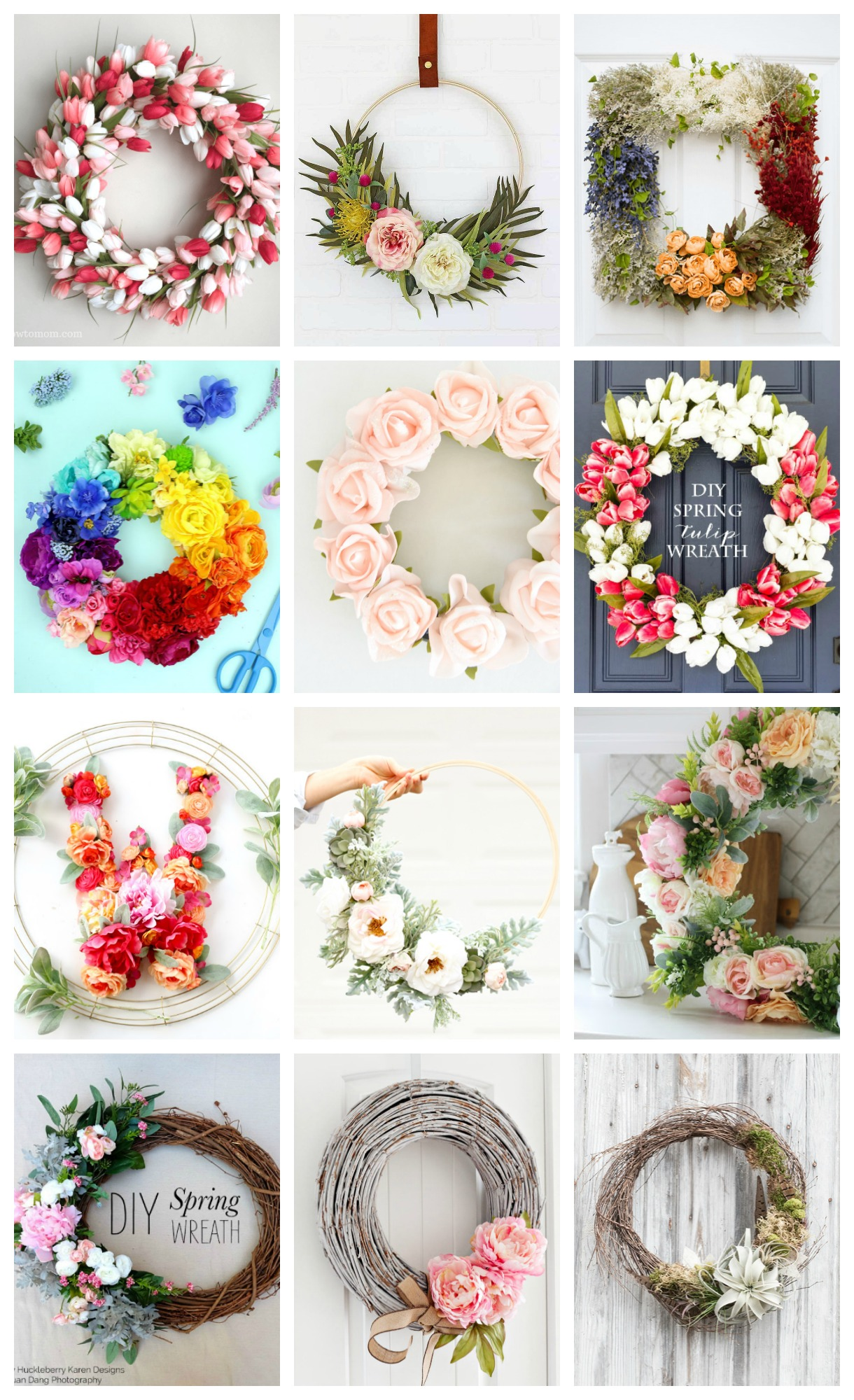 20 beautiful spring wreath ideas