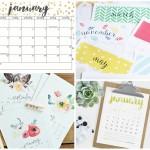 10 Free Printable Calendars for 2016
