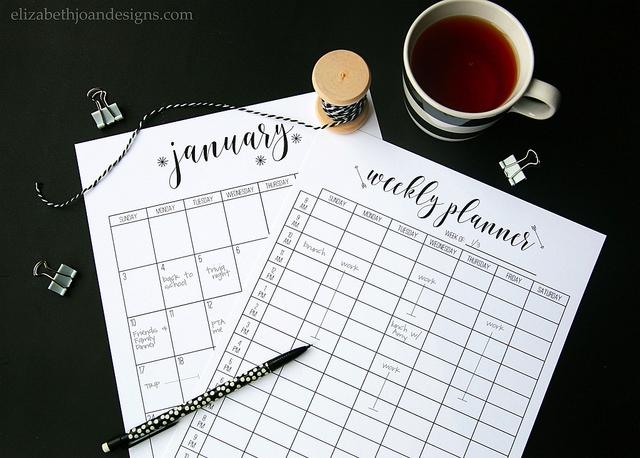 2016 Calendar - Elizabeth Joans Designs