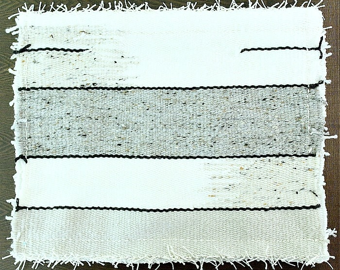 DIY Woven Pillow - stitched up.