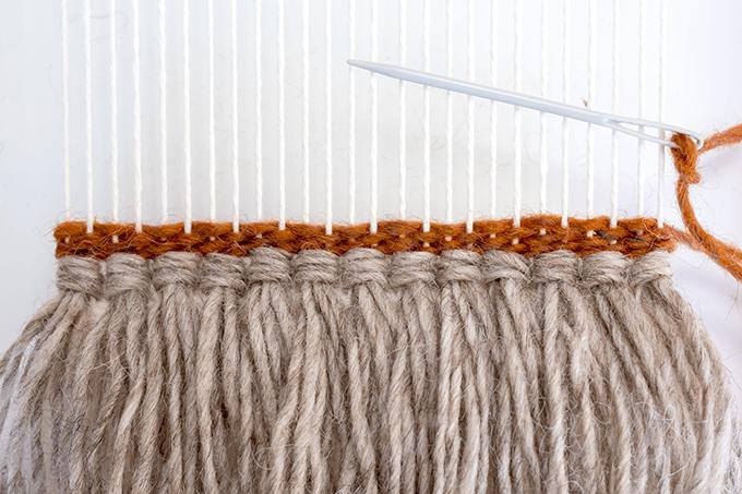 Plain weave rows.