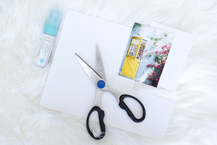 How To Make a Vision Board - attach craft paper to cut images.