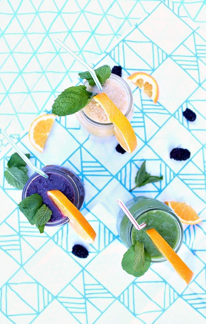 3 delicious skin-nourishing summer smoothie recipes at aprettyfix.com.