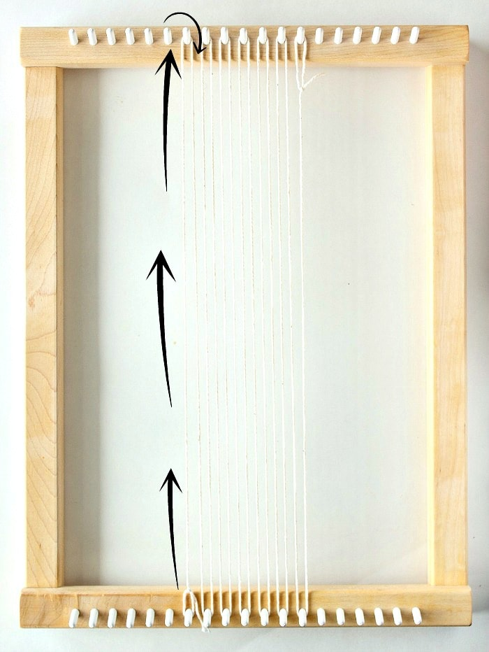 Create your warp - DIY mini framed weaving.